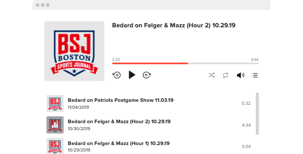 Reproductor de podcasts