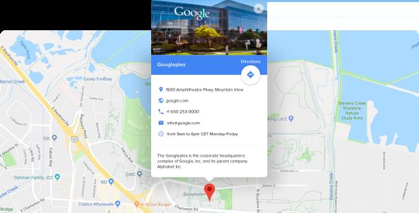 Widget Google Maps</br>para sitios web