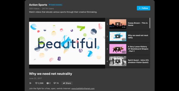 Galería de Vimeo</br>para su sitio web