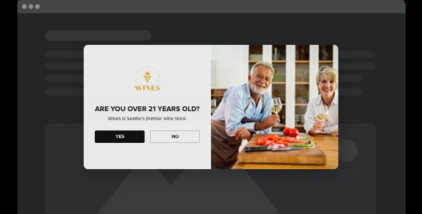 Verification de l'age <br>widget pour le site Web