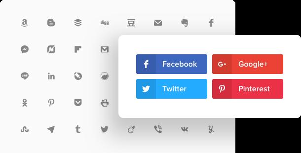 Widget Boutons de partage social pour site Web