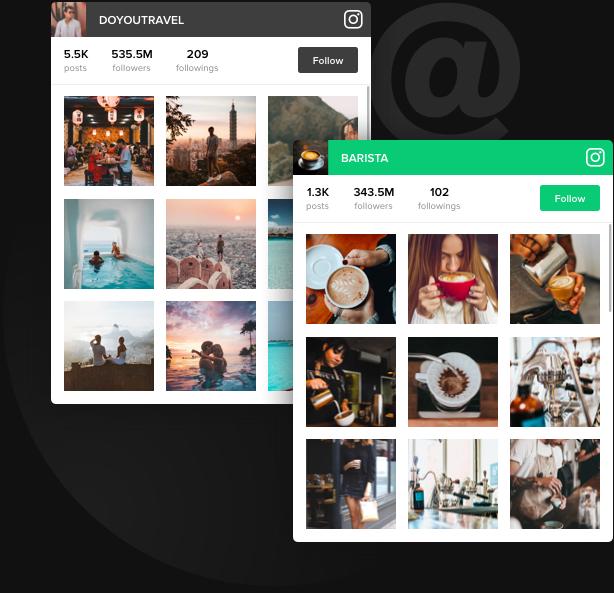 Votre compte Instagram sur le site Web