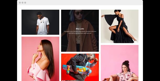 Widget Galerie de photos <br> pour le site web