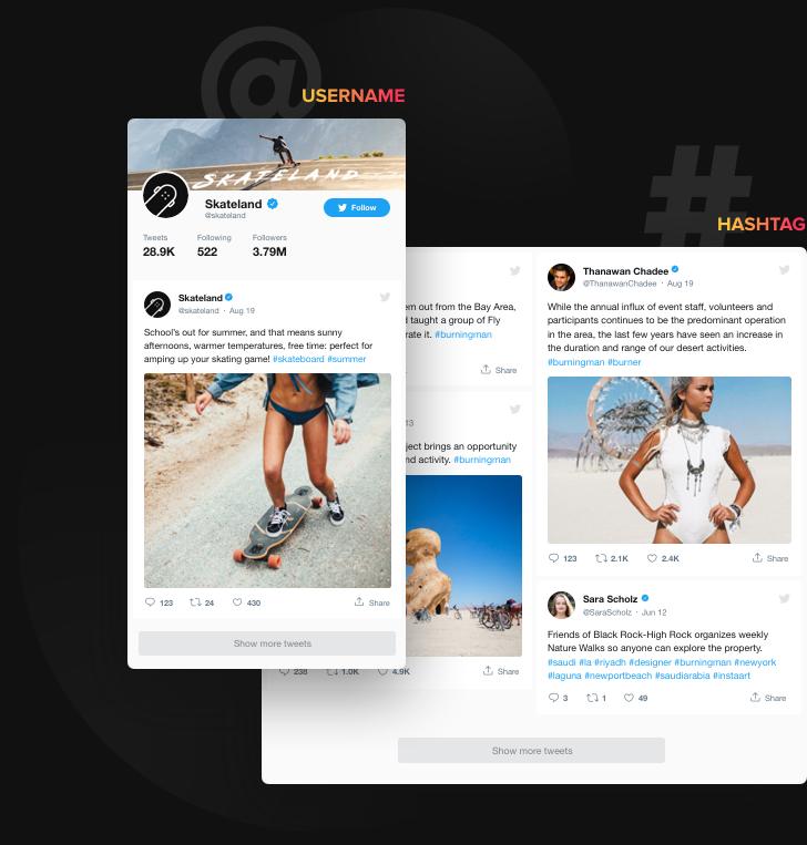 Boostez l'engagement. Obtenez plus d'abonnés Twitter.