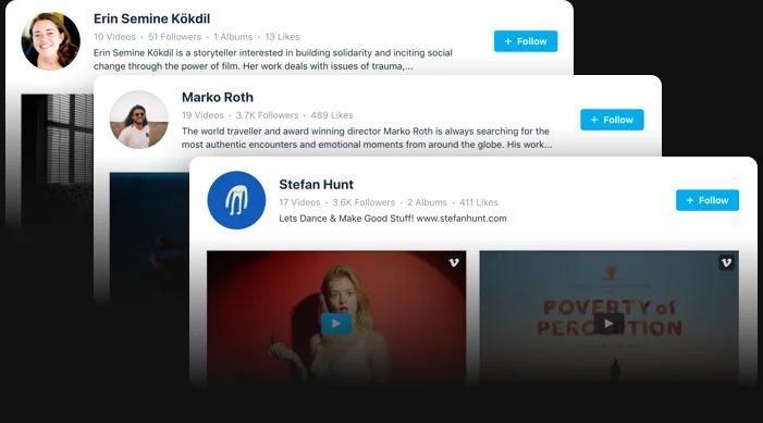 Faites la promotion de votre chaîne Vimeo. Obtenir plus d'abonnés.