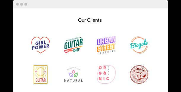 Logo Showcase <br> widget pour site web