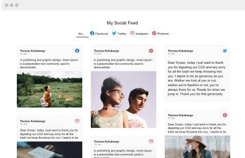Widget réseaux sociaux pour le site web