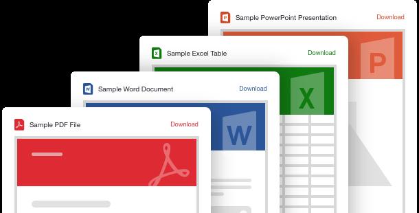 Widget d'intégration de fichiers <br>pour le site Web