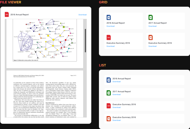 Visualisation et téléchargement de fichiers en toute simplicité