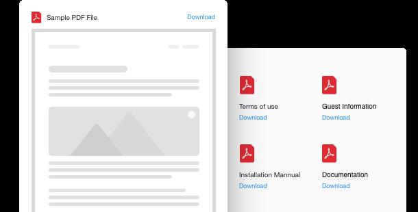 Widget Fichiers PDF pour site web