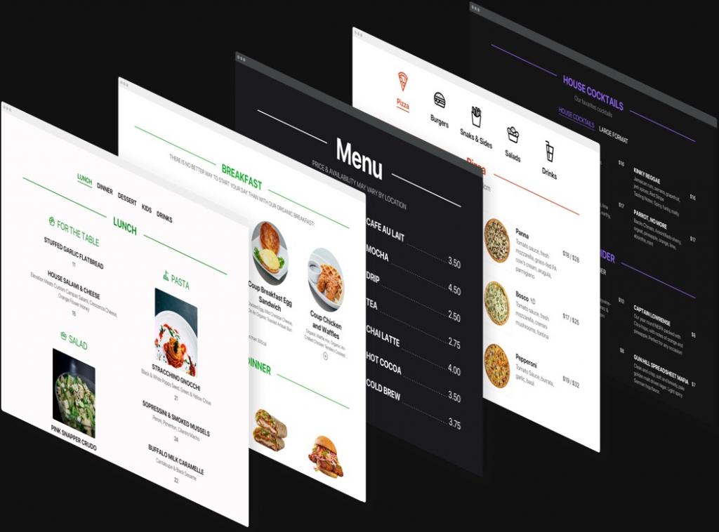 Rendez votre menu élégant et attrayant