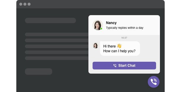 Chat Viber <br> widget pour site Web