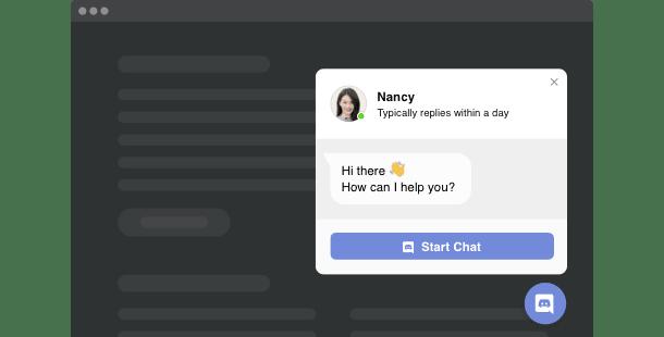 Widget Discord Chat