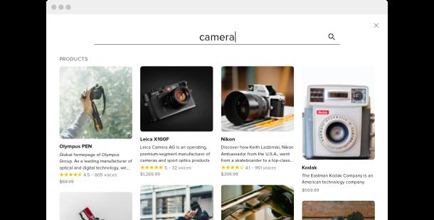 Champ de Recherche <br>widget pour site web
