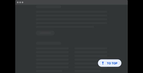Bouton Haut de page <br>widget pour site web