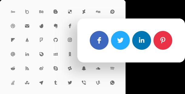 Icônes de médias sociaux pour site web