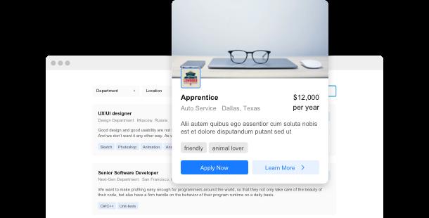 widget Offres d'emploi <br> pour site Web