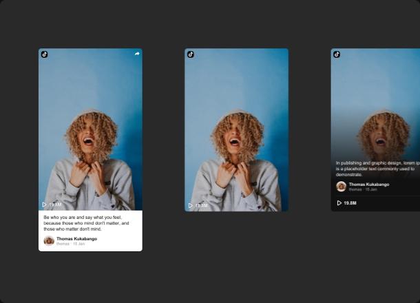 Plusieurs options de présentation pour les cartes vidéo dans un seul widget