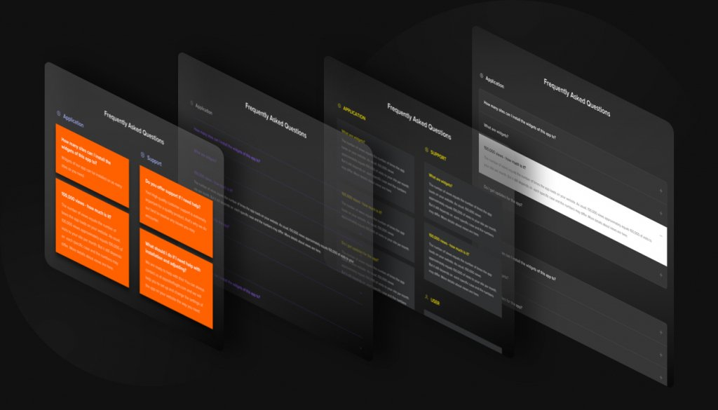 Stili e colori diversi per la personalizzazione