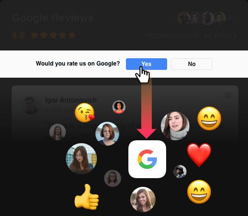 Un'altra possibilità per attirare il feedback dei clienti