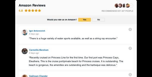 Widget per Recensioni di Amazon </br> per sito web