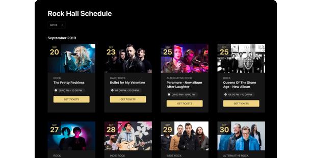 Widget Calendario Eventi <br> per il sito web