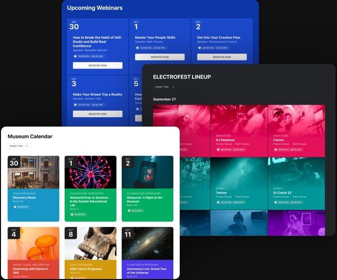 Incorpora un calendario nel design del tuo sito web senza problemi