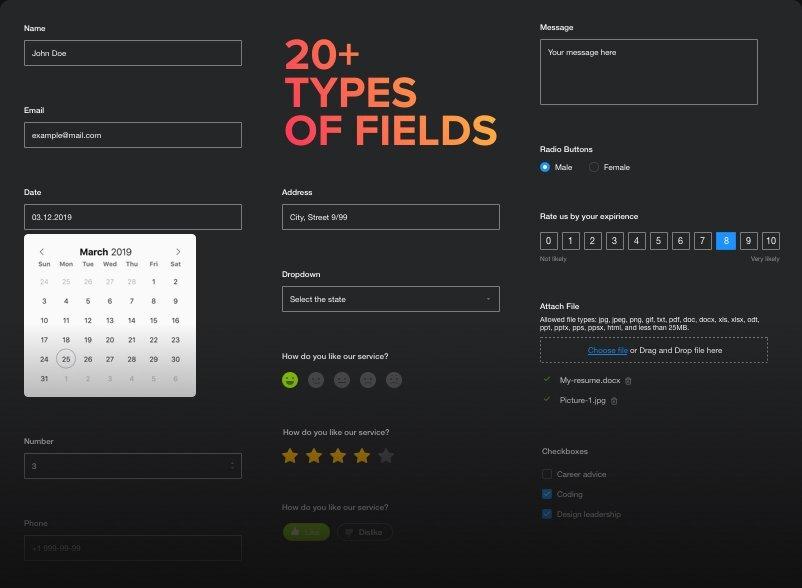 Configurazione flessibile dei campi