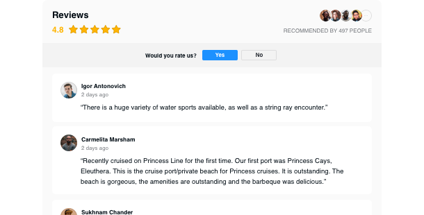 Widget per aggiungere le recensioni di Tripadvisor <br> al tuo sito web
