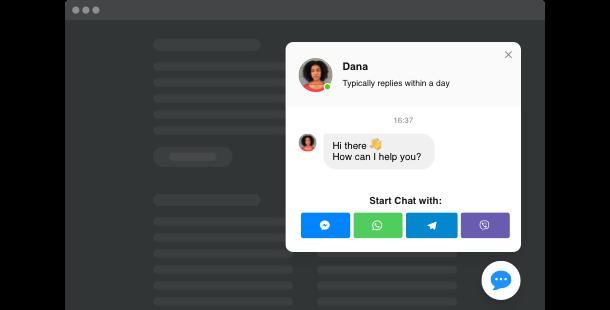 Widget Live Chat per il sito web