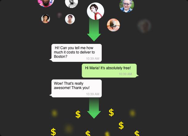 Chatta con gli utenti. Lascia che diventino tuoi clienti