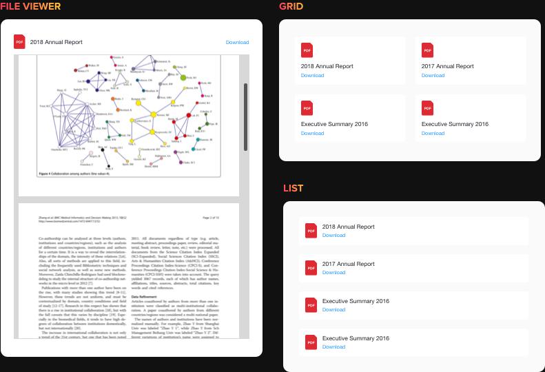 Comoda visualizzazione e download di file per i tuoi utenti
