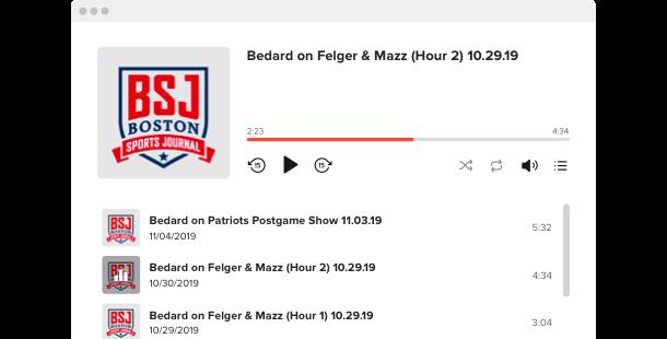 Widget Podcast Player</br>per sito web