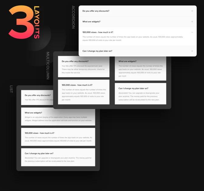 FAQを最もユーザーフレンドリーな方法で表示する