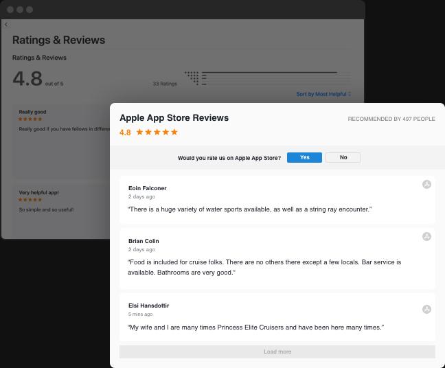 あなたのウェブサイト上でのApple App Storeレビュー