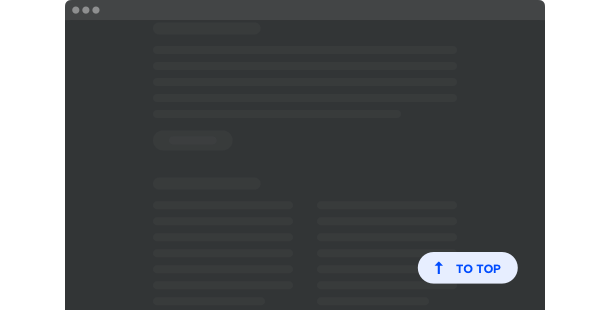 ウェブサイトの為のトップに戻るボタン