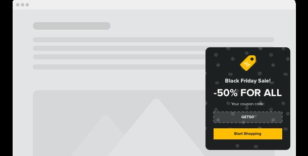 widgetu Popup dla strony internetowej