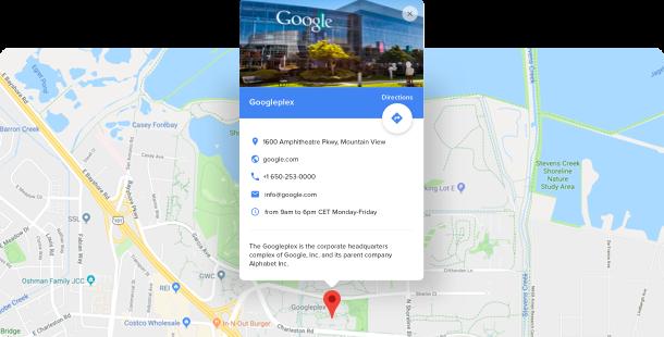 Google Maps виджет - Гугл карта на вашем сайте
