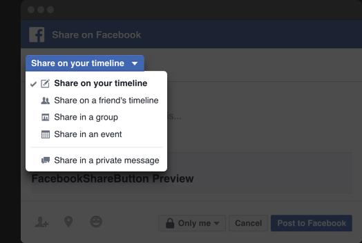 Facebook кнопка