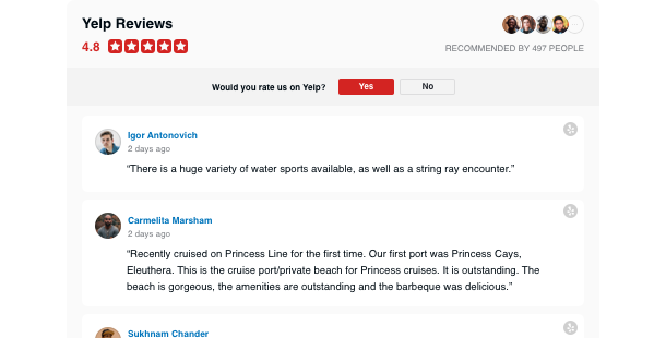 Yelp Отзывы для сайта
