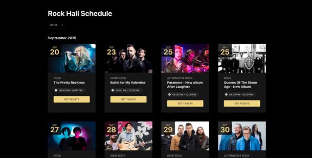 Календарь для сайта