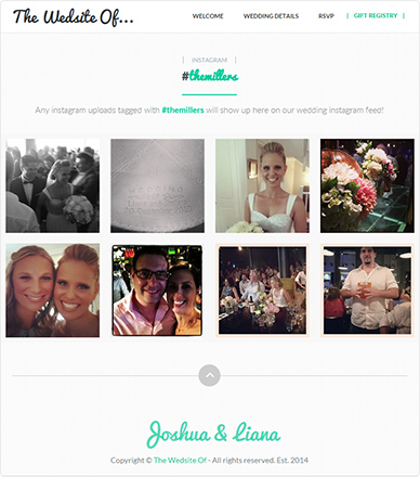 Soon-to-be Millers – Wedding in Instagram