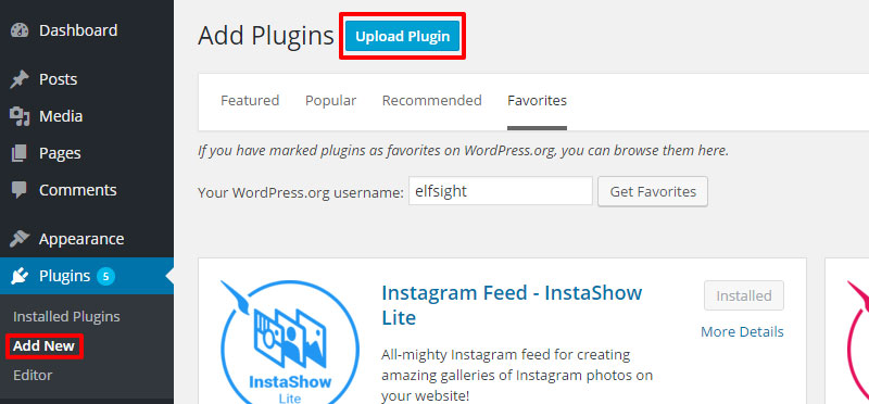 Add a new plugin to WordPress