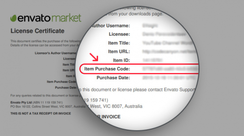 Where to Find Your Envato Purchase Code