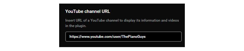 YouTube Channel Field