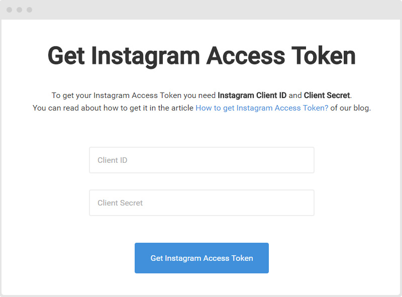 Ger Instagram Access Token