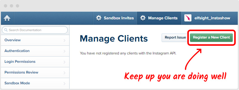 Instagram Manage Clients
