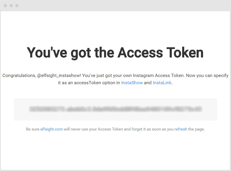 Instagram Access Token Received