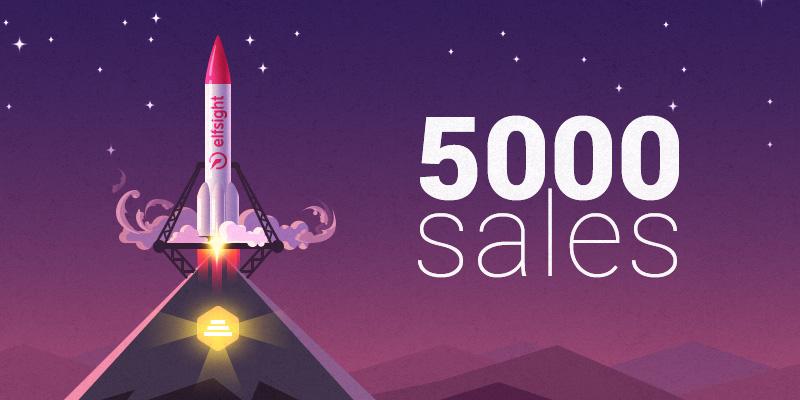 Elfsight Sales Milestone Envato