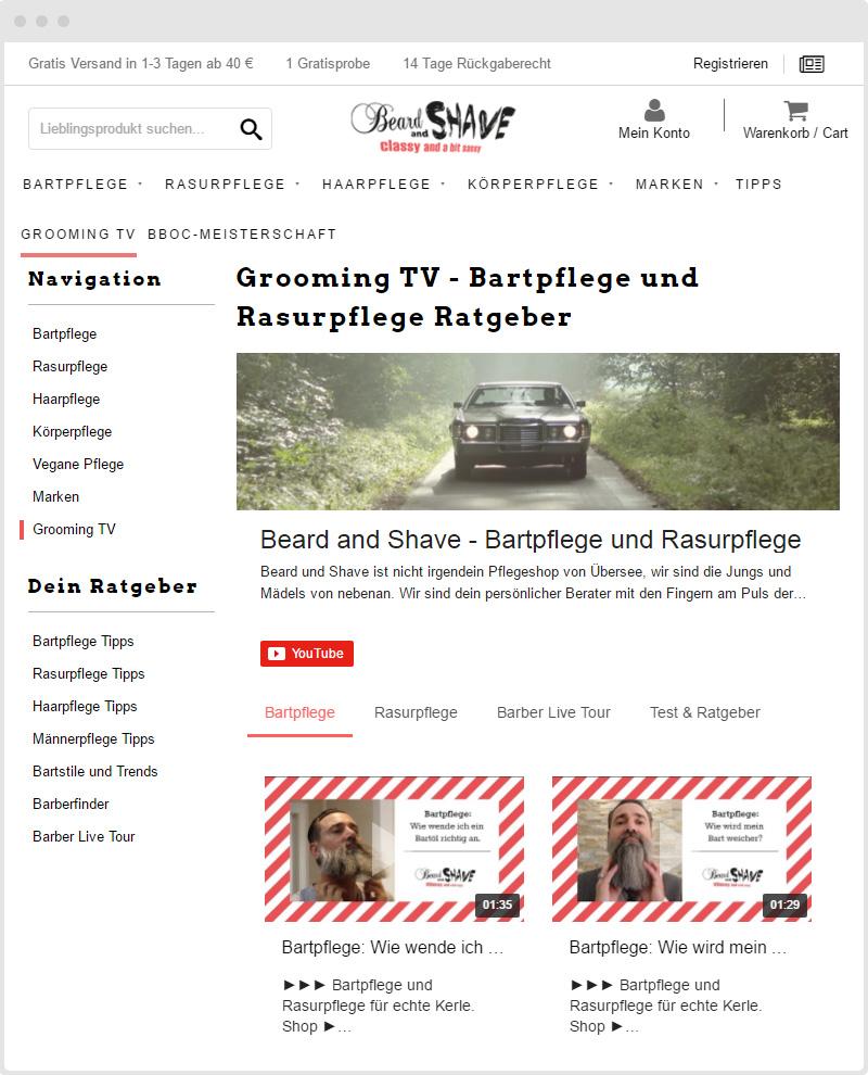 Shopify Beard YouTube Gallery